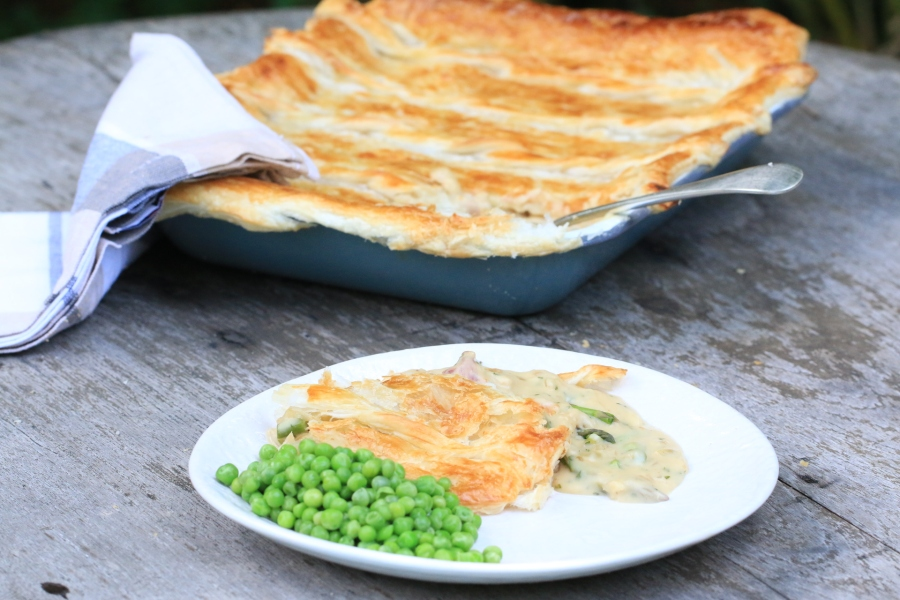 Fabulous Turkey, Leek, and ham pie